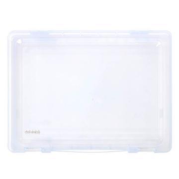 得力5702文件盒A4(透明)(只)